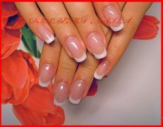 CORRECTION OF NAILS Acryl Gel Kiev OTRADNY Bridal French