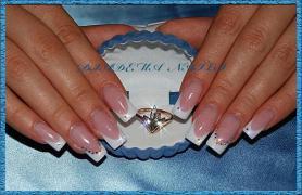 КОРЕКЦІЯ нігтів Акрил Гель Київ ВІДРАДНИЙ Весільний французький